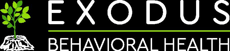 White Logo of Exodus Behavioral Health in Balitmore, MD