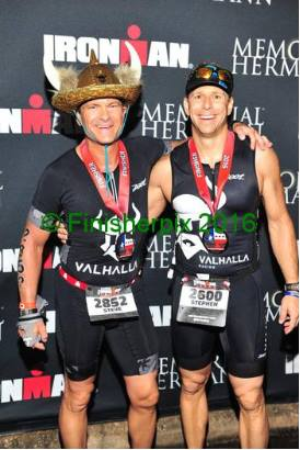 two men after completing the ironman